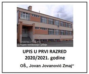 UPIS U PRVI RAZRED 2020/2021. GODINE
